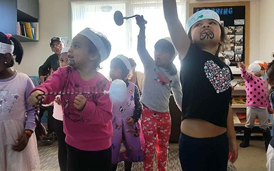 Matariki performance for whanau at Mangere East daycare