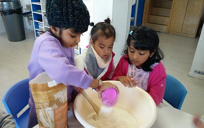 Cooking our Maori Bread at daycare