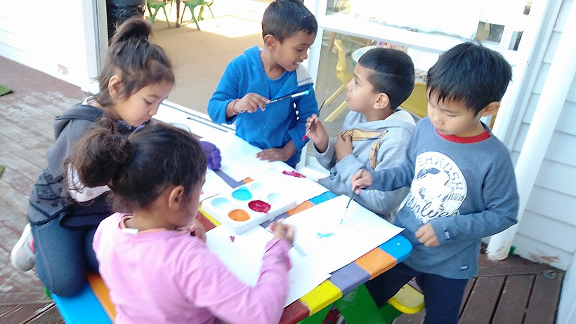 children preparing for Matariki at Mangere East daycare